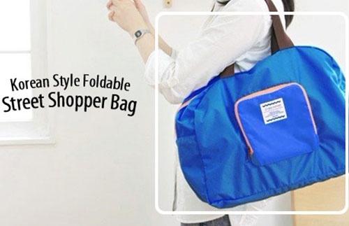 Street Shopper Bag, cara praktis bila ingin berpergian, bs di lipat jadi kecil :). Hanya Rp35.000,- at Travelicious.co.id