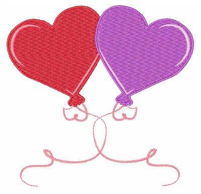 valentines heart balloons machine embroidery design windmill designs