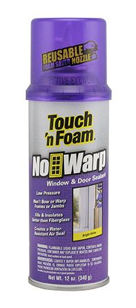 #airsealing Touch 'n Foam NoWarp Window & Door Sealant is specially formulated for use around window and door frames. While it can be used as an all-purpose foam, This revolutionary expanding polyurethane foam is designed to seal and insulate without exerting pressure that can be detrimental to window or door frame stability.