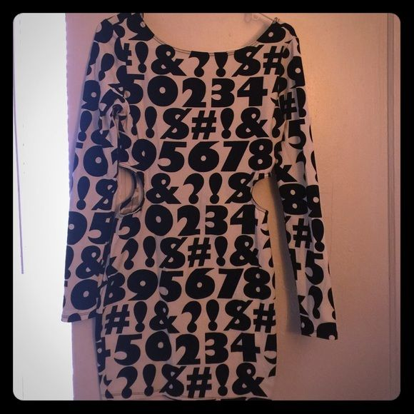 Cute dress Black and white super cute cheap dress Forever 21 Dresses Long Sleeve