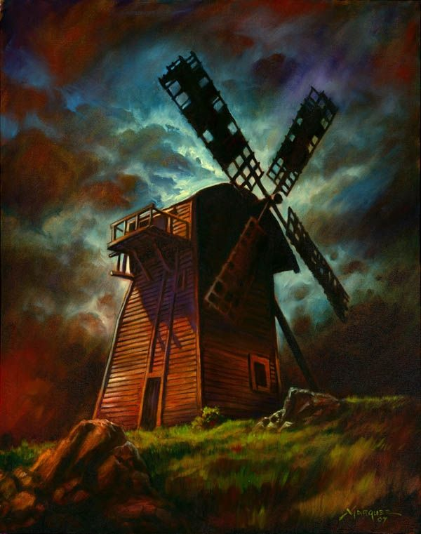 The Old Windmill from  Frankenstein, by Don Marquez