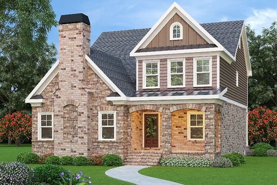 Plan 75609GB: 4 Bed 2 Story Home With Rear Facing Garage