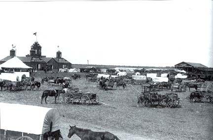 "Brownwood Texas, 1880 ""Trade Days""."