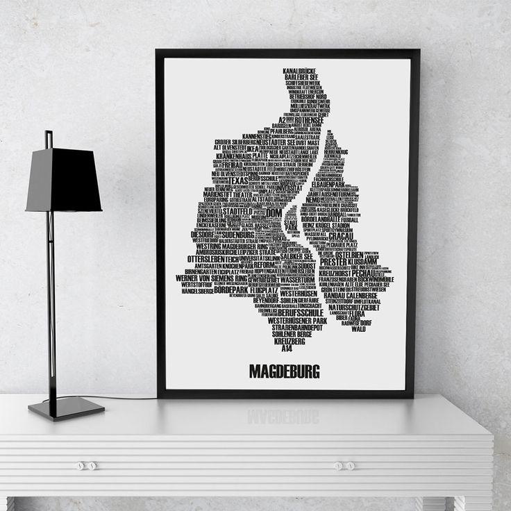 Der Buchstabenort der Stadt Magdeburg. Unser Kunstdruck Magdeburg beinhaltet über 330 Wörter Deiner Lieblingsstadt. Jetzt versandkostenfrei bestellen.