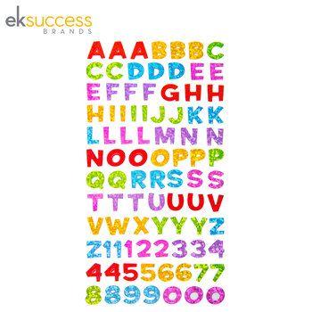 Funhouse Metallic Alphabet Stickers
