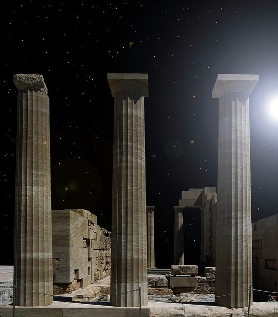 pillars of civilisation, Lindos, Rhodes, Greece