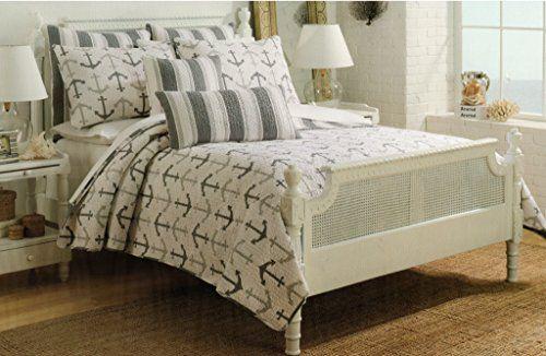 Cynthia Rowley Anchor Nautical Design Bedspread 3pc King