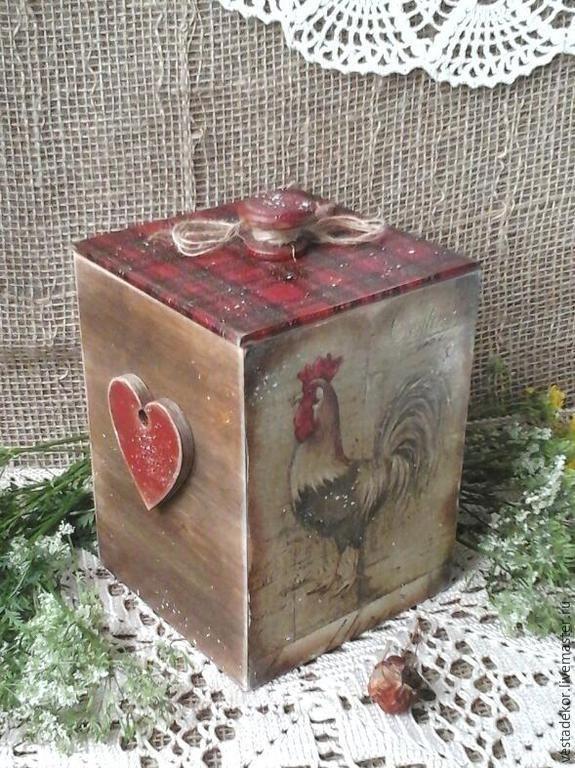 Купить Короб Прованский петушок в стиле кантри - короб для хранения, петушок, петушки, кантри стиль