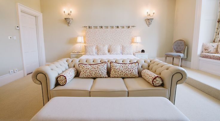 Designer soft furnishings interior decor. Queen suite - Langdon court, manor house hotel Devon. http://bit.ly/king-queen-suite