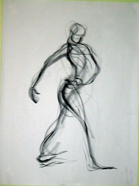 1 minute Gesture Drawing to capture energy in space