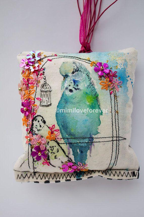 Hanging Bird Decorative Accessory for Room. Padded bird