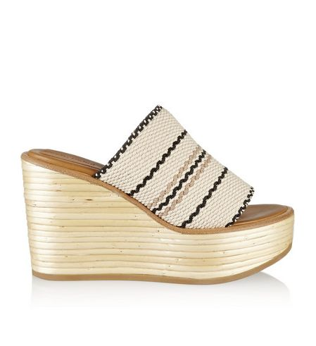Pin for Later: You'll Want to Act Fast to Grab These Last-Minute Summer  Sale Bargains See by Chloé Kenna Woven Cotton Wedge Sandals See by Chloé  Kenna Woven ...