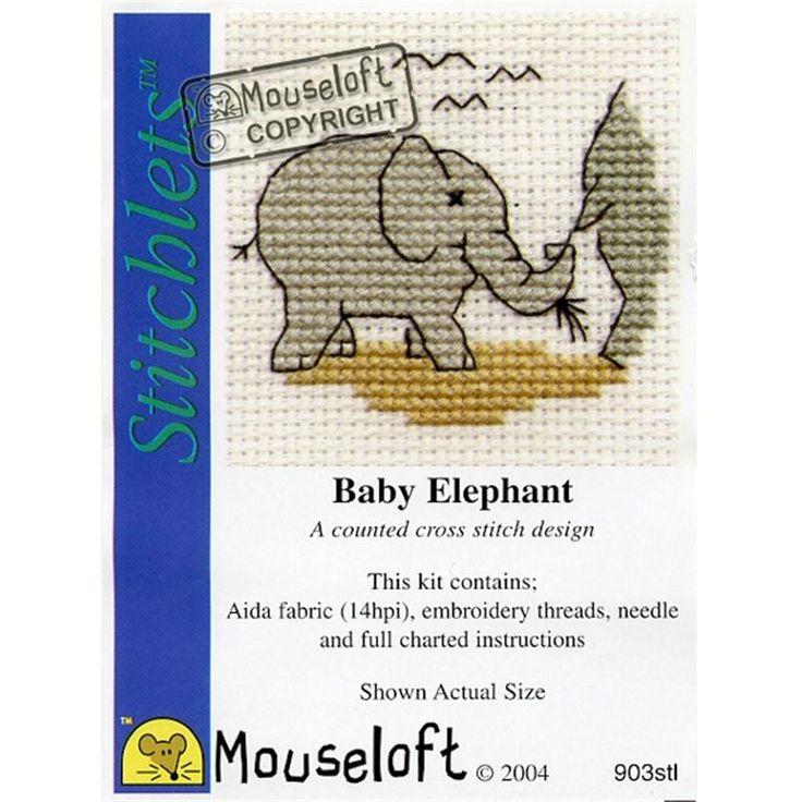 Mouseloft Baby Elephant Stitchlets