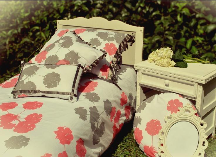 "Hagakure Hogar   Set Duvet Cover  Estampado a Mano  Diseño ""Flores Silvestres"""