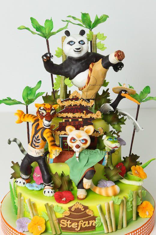 Gateau pate a sucre kung fu panda