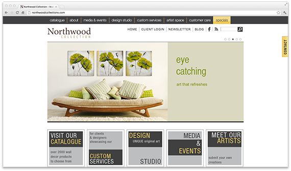 U2R1 was inspired by Northwood Collection's simply elegant wall décor when designing their complex ecommerce website that embodied their unique art and design philosophy that revolved around a passionate appreciation for art. - See more at: http://u2r1.ws/designs/northwoods-collection/#sthash.Ux8YvB3J.dpuf