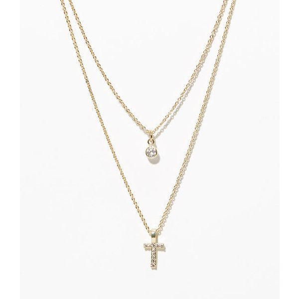 LOFT Layered Pave Initial Necklace ($30) ❤ liked on Polyvore featuring jewelry, necklaces, t, letter charm necklace, loft necklace, pave charms, charm jewelry and initial charm necklace