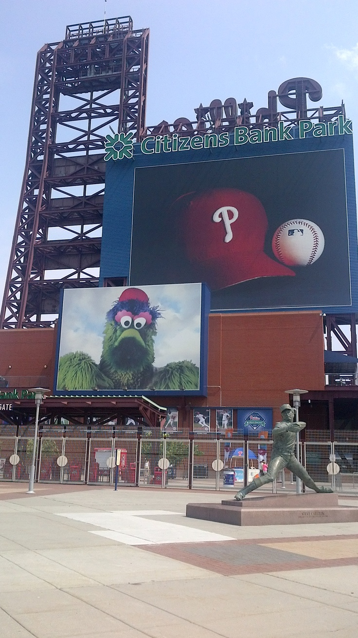 Phillies Stadium in Philadelphia. Had a blast! Sang some awesome karaoke-got some free beer-got caught in a riot-and of course went downtown for an authentic Philly Cheesesteak!!! YUM!
