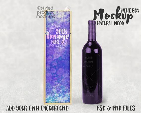 Download Dye Sublimation Natural Wood Wine Box Mockup Template Add Etsy Wood Wine Box Wine Box Box Mockup