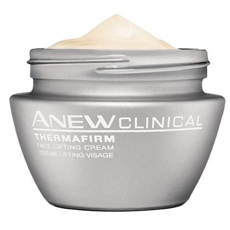Anew Clinical ThermaFirm Face Lifting Cream ~ Our most effective lifting treatment ever, ANEW Clinical ThermaFirm Face Lifting Cream is the at-home answer to thermal face lifts. Professional Thermal face lifts use radio frequency waves to lift & tighten skin, a procedure that is costly & inconvenient. Now there's an at-home answer to face lifts**, ANEW Clinical ThermaFirm Face