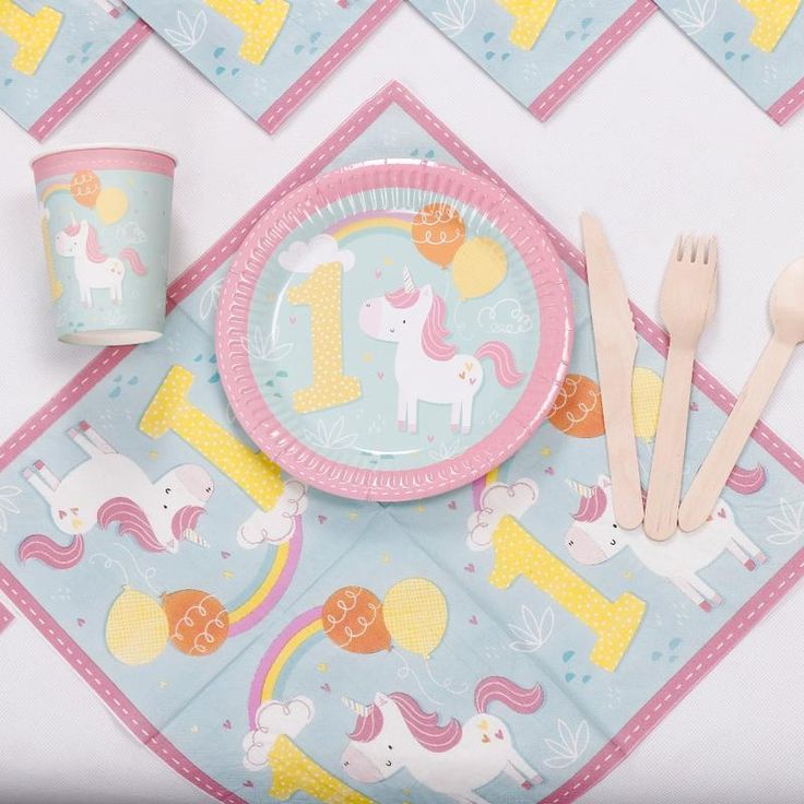 Lovely Unicorn 1st Birthday Party Set 8