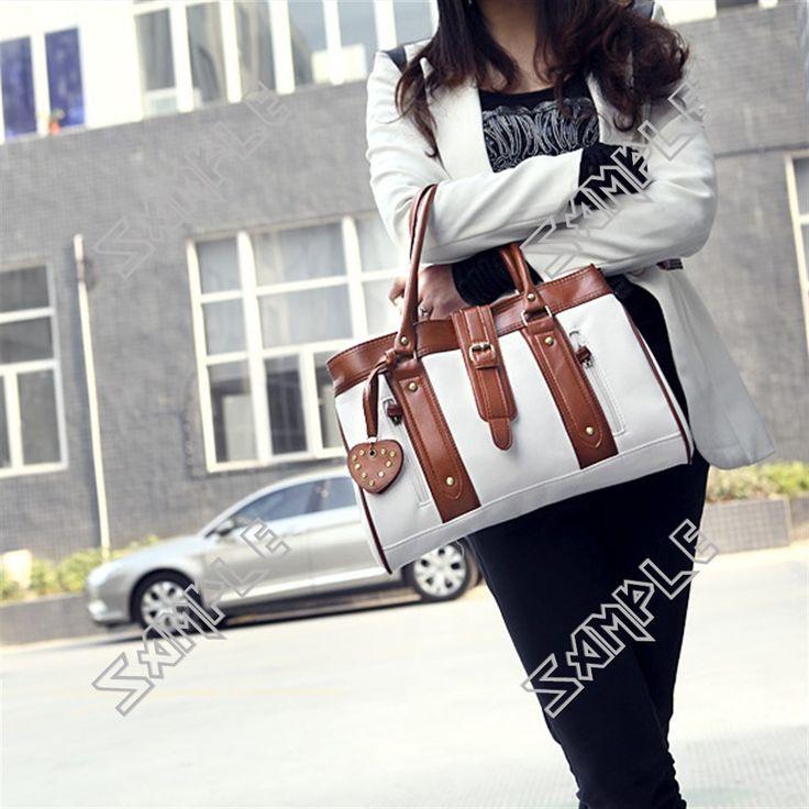 Dual Color PU Leather Lounge Shoulder Bag