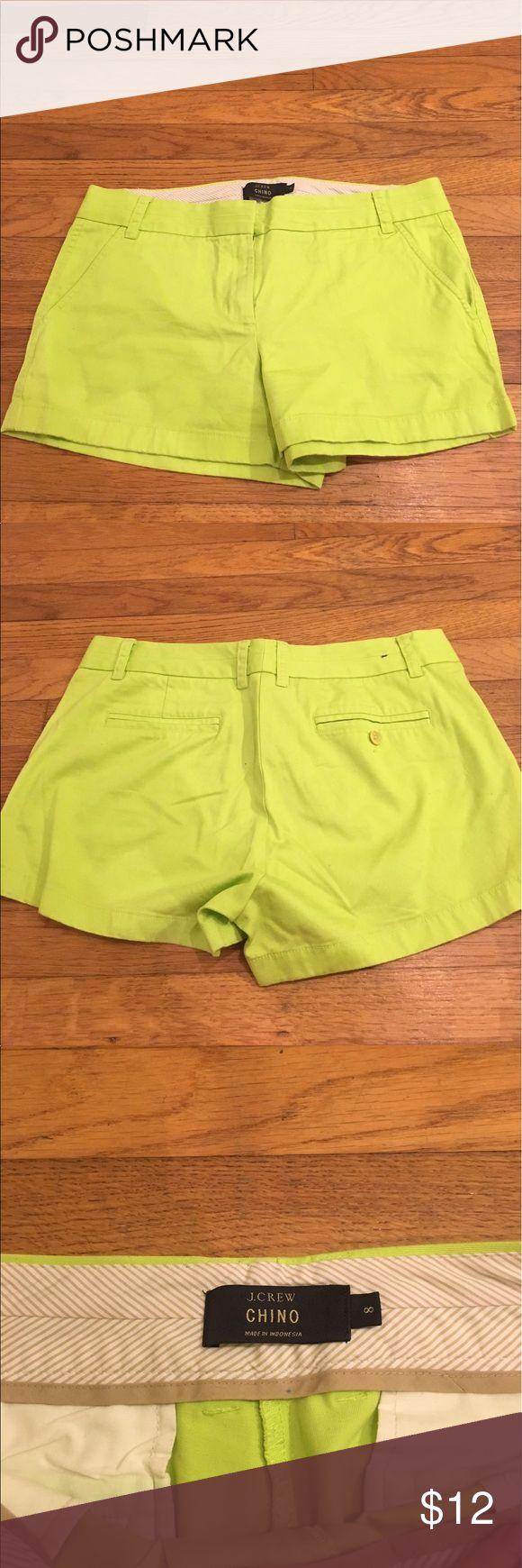 Women's J.Crew chino 3in chino shorts Neon women's 3in chino shorts J. Crew Shorts