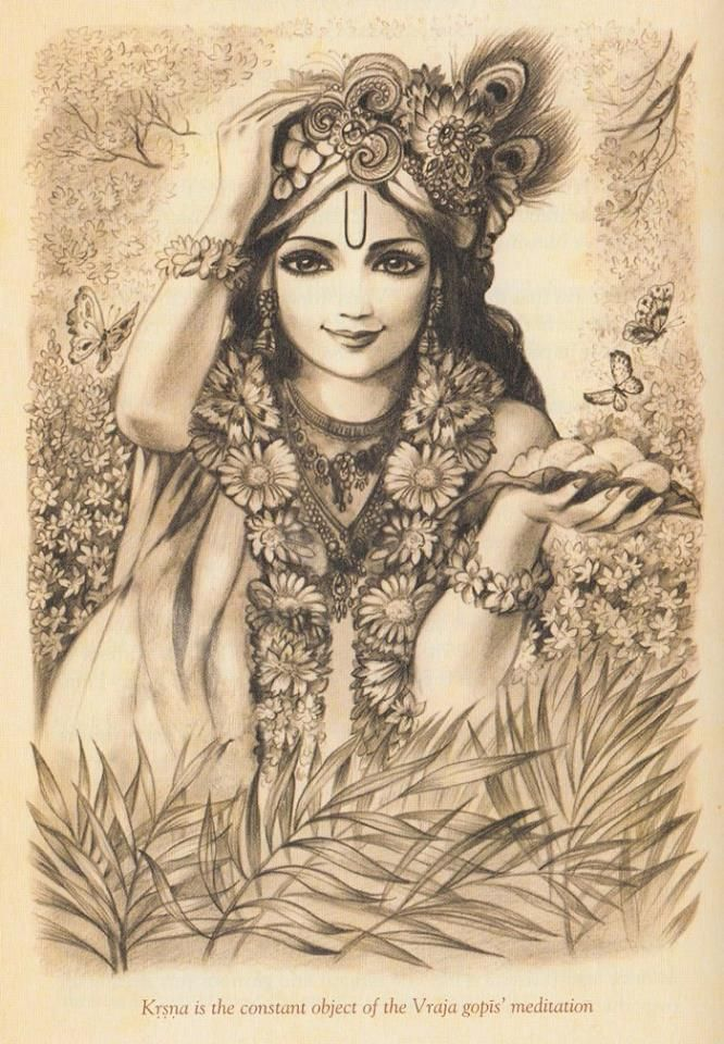 Krsna is the constant object of the Vraja gopis' meditation.