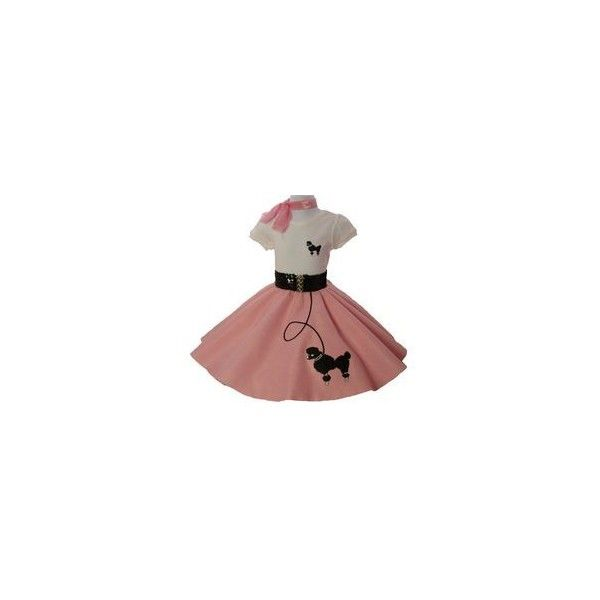 Poodle Skirt Costume ❤ liked on Polyvore featuring costumes, hippy costume, hippie halloween costumes, red costumes and hippie costume