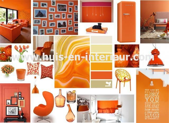 Inspiration for your home... If you like to pimp your home for the WK (orange is the color of the Dutch soccer team) or just like the color orange... http://www.huis-en-interieur.com