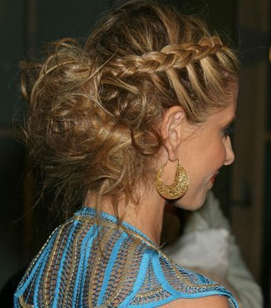 prom hairstyles for medium length | French braided hairstyles for prom | Hairstyles Pictures