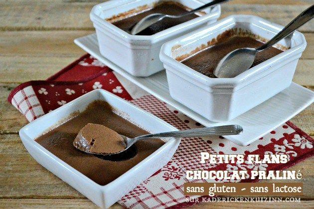 Petits flans - Recette sans gluten et sans lactose au chocolat