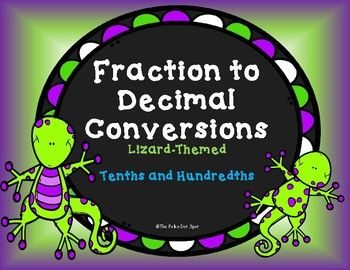Fraction and Decimal Conversions Task Cards-... by The Polka Dot Spot | Teachers Pay Teachers