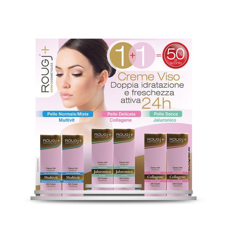 Offerta Speciale in Farmacia!!!  1 + 1   Con l'acquisto di una crema idratante viso, la seconda è in omaggio!!!