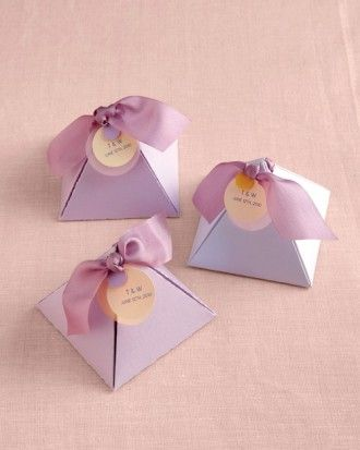 "See the ""Pyramid Candy Holders"" in our Boxed Wedding Favors gallery"