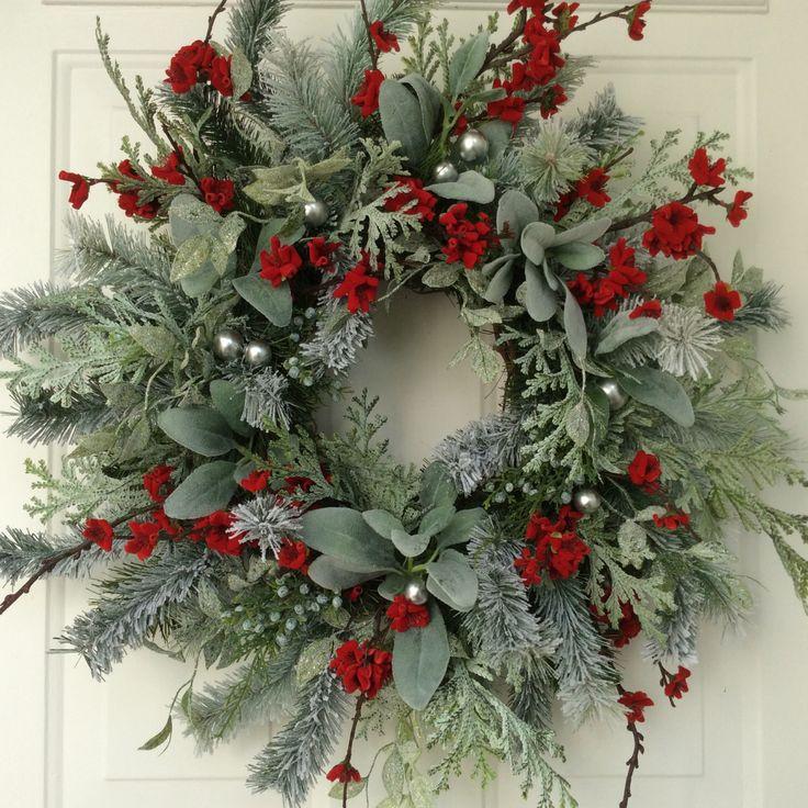 Christmas Wreath-Winter Wreath-Holiday Wreath-Elegant Holiday Wreath-Christmas Wedding-Designer Wreath-Elegant Holiday Wreath-Frosted Wreath by ReginasGarden on Etsy https://www.etsy.com/listing/252192269/christmas-wreath-winter-wreath-holiday