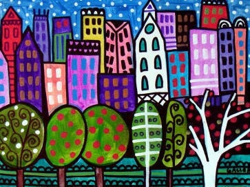 New York City Art  NYC PRINT  Poster Central by HeatherGallerArt, $24.00