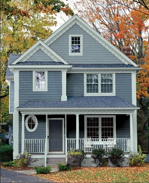 143 best Exterior Paint : Blues, Grays and Beiges images on Pinterest