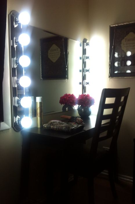 Vanity Mirror With Lights Walmart Glamorous 12 Best Images About Makeup Vanity On Pinterest  Massage Makeup Review