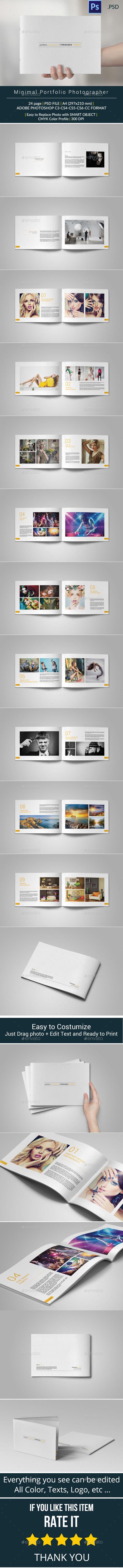 Minimal Portfolio Brochure Template #design Download: http://graphicriver.net/item/minimal-portfolio/10058402?ref=ksioks