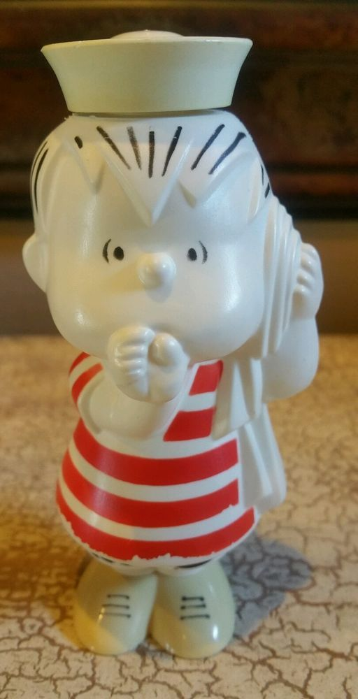 Avon 1970 Peanuts Linus Charlie Brown Collectible Container EMPTY