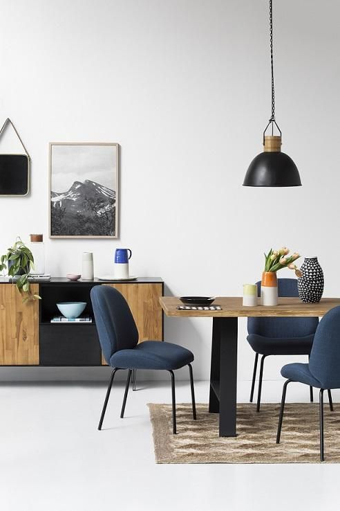 The Brooklyn Collection. Brooklyn Buffet, Brooklyn Trestle Table, Brooklyn Loft Pendants, Bella Chairs, Paint: Minimalist 2 by Haymes, Accessories: Cone 11, Moss Melbourne and Arro Home, Photo: Martina Gemmola, Styling: Ruth Welsby