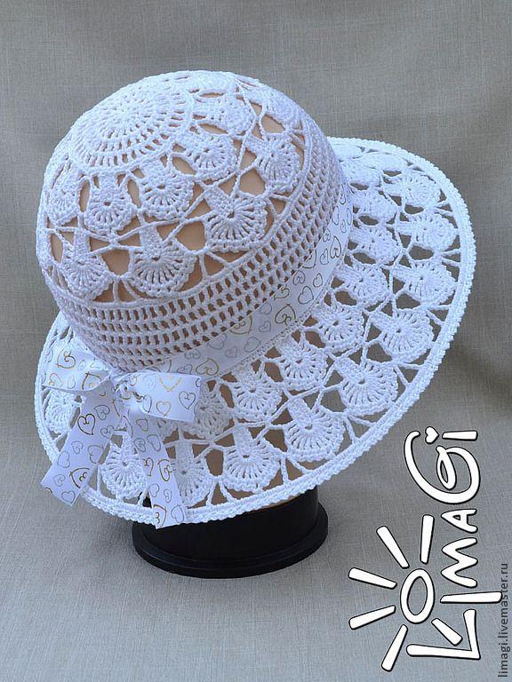 """Купить Шляпка """"Перышки ангела"""" - описание - шляпка для девочки, шляпка вязаная, шляпка крючком"""