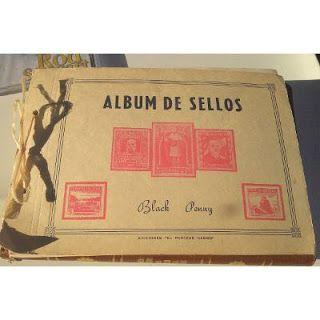 Paraíso del Libro Usado: Antiguo Álbum De Sellos,sin Uso El Penique Negro,b...