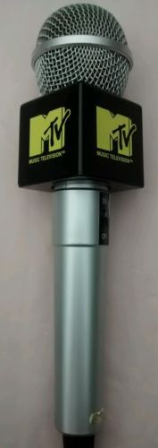 MTV Music Television Microphone with Flag Excellent Condition | eBay