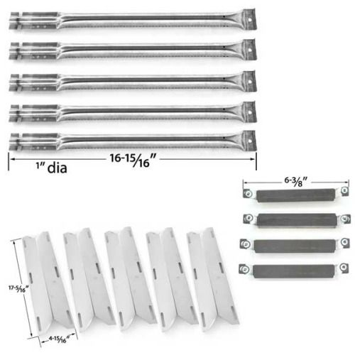 REPAIR KIT FOR CHARMGLOW 720-0396, 720-0578 FIVE BURNER GAS GRILL INCLUDES 5 STAINLESS STEEL BURNERS, 5 STAINLESS STEEL HEAT SHIELDS AND CROSSOVER TUBES