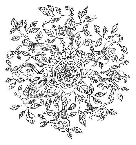 Love this twist on a mandala design! It's a bit more feminine than the classic geometric style...