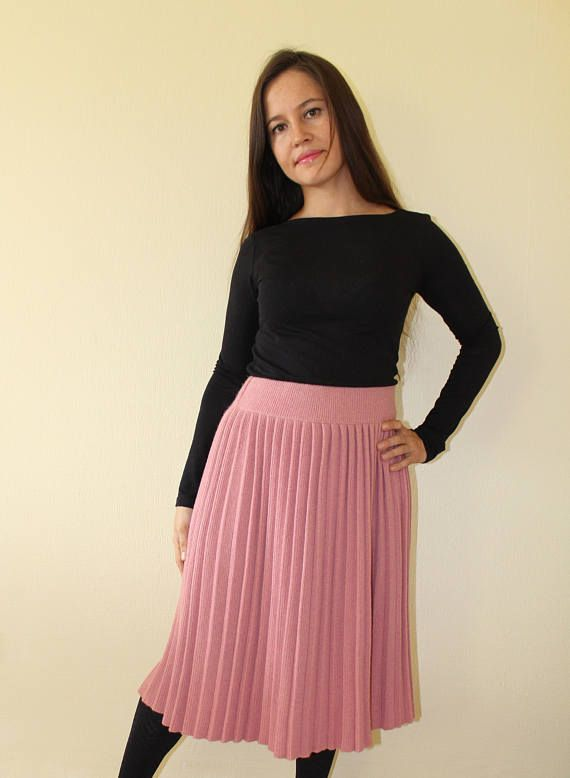 Check out this item in my Etsy shop https://www.etsy.com/listing/547512054/pink-skirt-wool-pleated-skirt-pink-wool