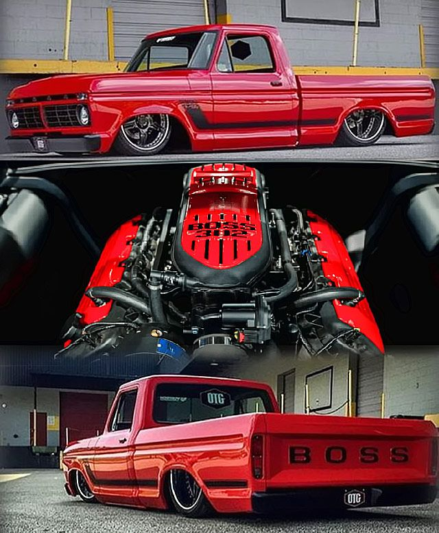 Jaw-dropping #FORD #BOSS F-100 custom truck