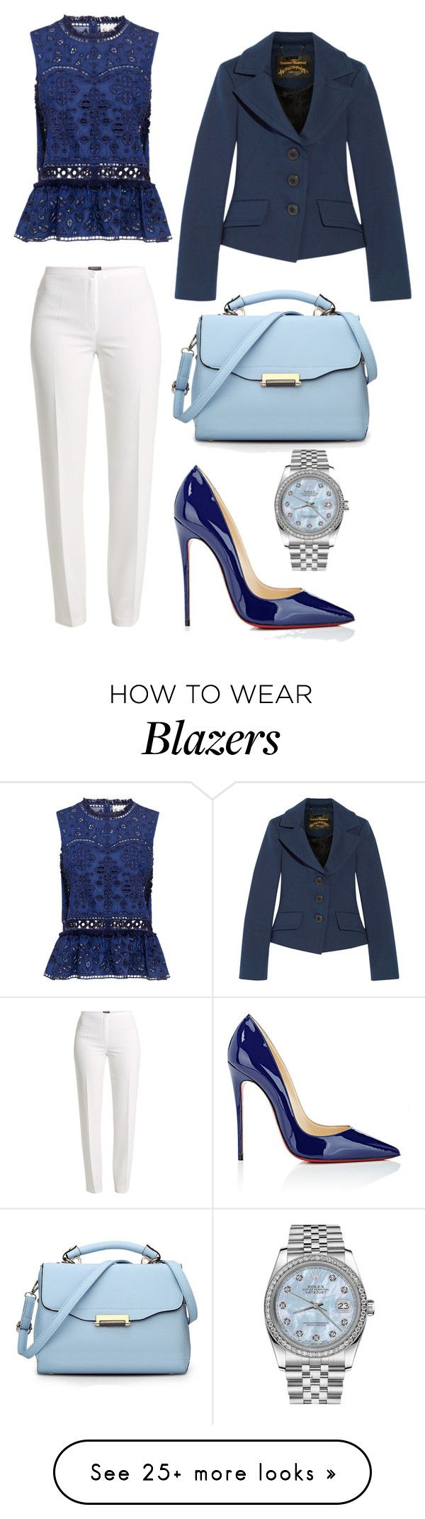 """""""Untitled #326"""" by rubysparks90 on Polyvore featuring Sea, New York, Basler, Vivienne Westwood Anglomania, Christian Louboutin and Rolex"""